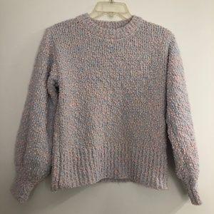 Pastel Popcorn Knit Sweater